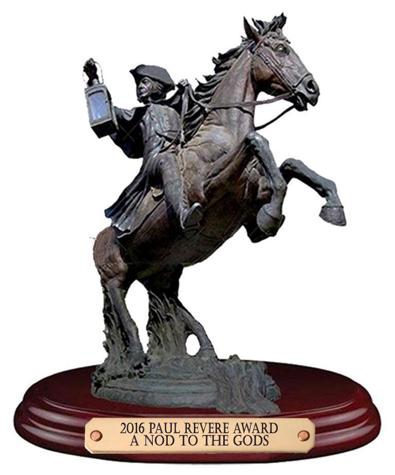 A Nod To The Gods Paul Revere Award Winner (1)