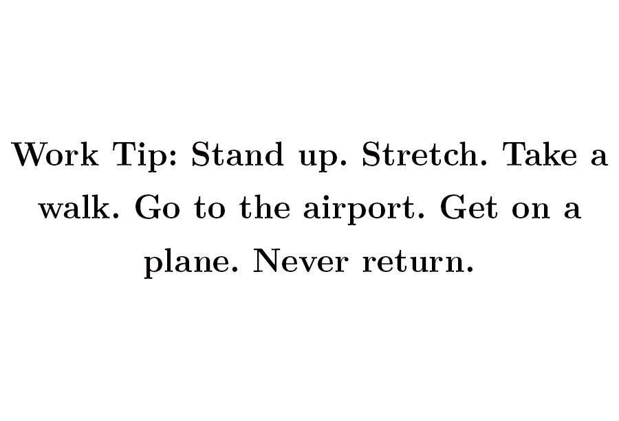 work-tip-plane-travel