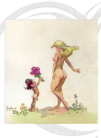 frank-frazetta-nude-and-little-elf