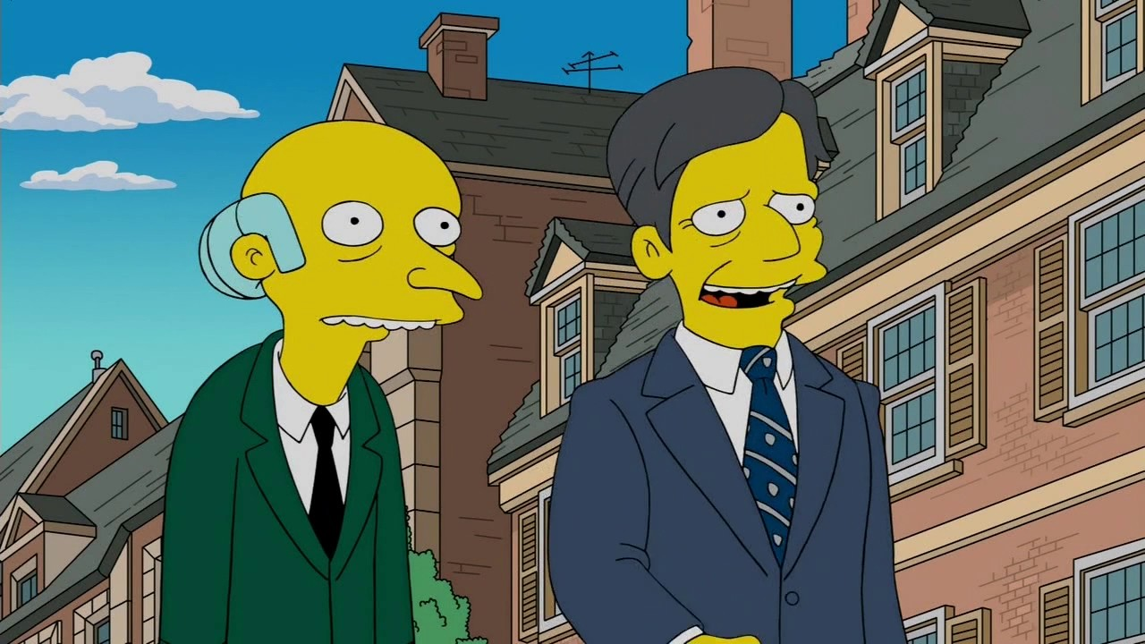 Mr. Burns Stops By Yale
