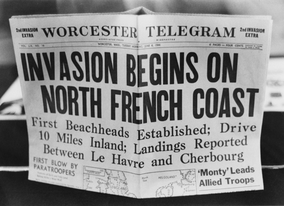 D-Day Headline